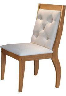 Cadeira Agata 2 Peças - Imbuia Com Linho Rústico
