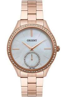 Relógio Orient Feminino Madrepérola Analógico - Feminino-Dourado