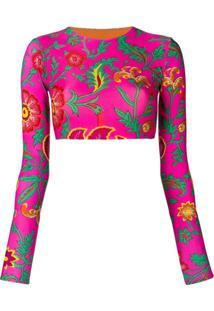 La Doublej Blusa Para Surfe Estampada - Rosa