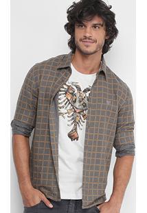 Camisa Xadrez Cavalera Estampa Interna Masculina - Masculino