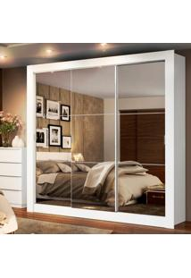 Guarda-Roupa Texas Plus 3 Portas Com Espelho Branco Madesa