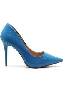 Scarpin Royalz Verniz Salto Alto Fino Penélope Feminino - Feminino-Azul