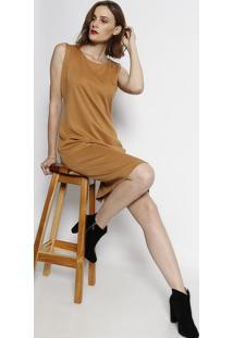 Vestido Com Fendas - Begesimple Life