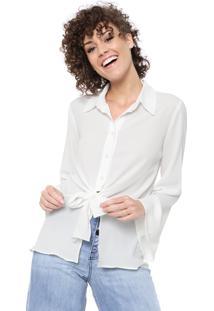 Camisa Maria Filó Amarração Branca