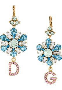 Dolce & Gabbana Par De Brincos Com Pingente - Azul