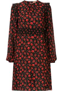 Nº21 Candy Apple Print Dress - Preto