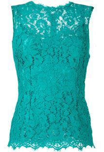 Dolce & Gabbana Regata Com Renda - Verde