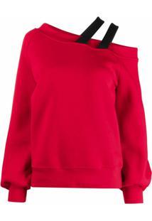 Atu Body Couture Moletom Com Recorte No Ombro - Vermelho