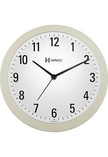 13a77bc1f93 ... Relógio De Parede Moderno Analógico Mecanismo Step Herweg Marfim