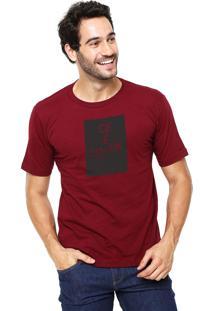 Camiseta Rgx Ce É Louk Bordô