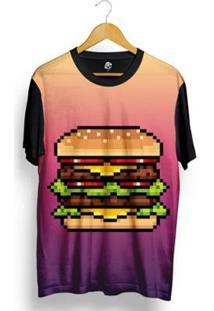 Camiseta Bsc Lance Pixel Sublimada Masculina - Masculino-Preto