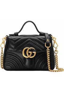 Gucci Bolsa Gg Marmont Mini - Preto