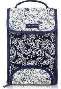 Bolsa Térmica Tamanho G Paisley Jacki Design Mística Azul Marinho - Kanui