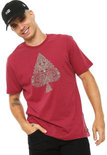 Camiseta Mcd Paisley Vinho