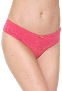 Calcinha Love Secret Lingerie Tanga Renda Pink