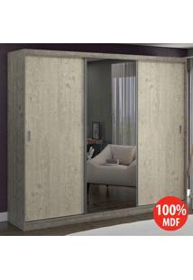 Guarda Roupa 3 Portas C 1 Espelho 100% Mdf 774E1 Demoli/Marfim Areia - Foscarini