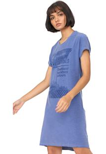 Vestido Calvin Klein Jeans Curto American Essential Azul