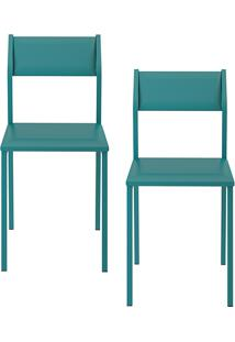 Kit Com 2 Cadeiras Sofia Turquesa - Carraro