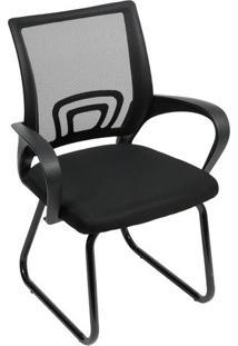 Cadeira De Escritório Tok Fixa- Preta- 93X59X50Cm