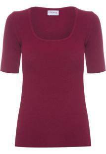 Blusa Feminina Decote Quadrado - Vinho