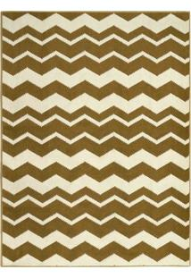 Tapete Zig Zag Colours- Dourado & Off White- 390X240Tapete Sã£O Carlos