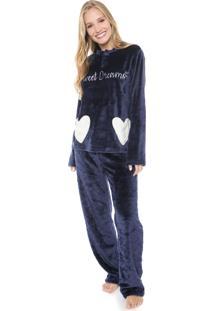 Pijama Any Any Sweet Dreams Azul-Marinho