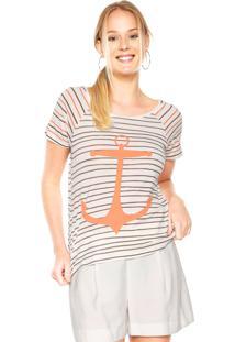 Camiseta Lez A Lez Forty Bege/Marrom/Laranja