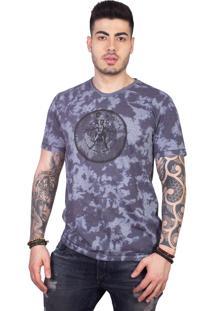 Camiseta 4 Ás Manga Curta Homem Vitruviano Tie Dye