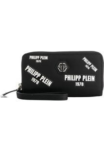 Philipp Plein Carteira Continental - Preto