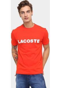 Camiseta Lacoste Estampada - Masculino-Vermelho