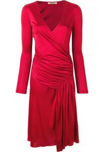 Roberto Cavalli Draped Detail Dress - Vermelho