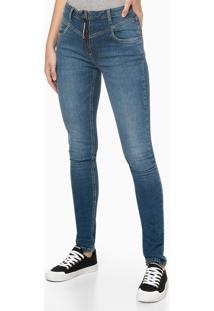 Calça Jeans Vista Zíper Puxador Personal - Azul Marinho - 34
