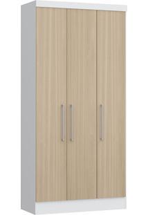 Modulo Com 3 Portas E 2 Gavetas Infinity 3830A-Castro Móveis - Branco / Nogueira