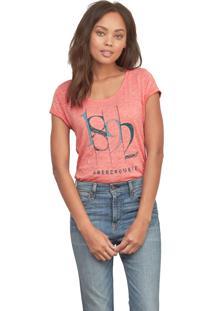 Camiseta Abercrombie Gráfica Salmão