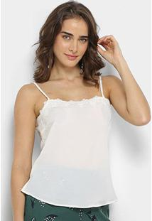 Blusa We'Re The Basic Alça Feminina - Feminino-Off White
