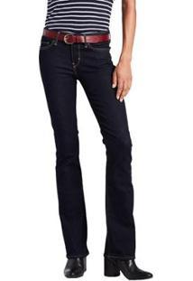 Calça Jeans Levis 715 Bootcut Feminina - Feminino-Azul Escuro