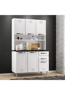 Armário Para Cozinha 6 Portas Pérola Telasul Branco