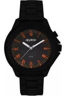 Relógio Euro Feminino Analógico Eu2036Yme/4P - Unissex-Preto