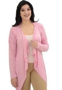 Cardigan Energia Fashion Rosa