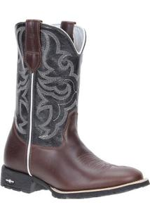 Bota Couro Country Cow Way Masculina - Masculino-Café