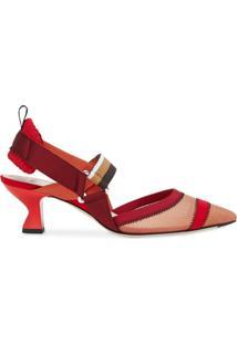 Fendi Sapato Colibrì Com Fixação No Tornozelo - Vermelho
