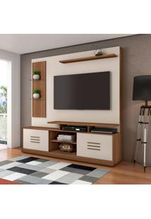 Estante Para Home Theater E Tv Até 60 Polegadas Samba Rovere E Off White