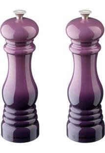Conjunto De Moedor Sal E Pimenta 21 Cm Violeta Unico Le Creuset