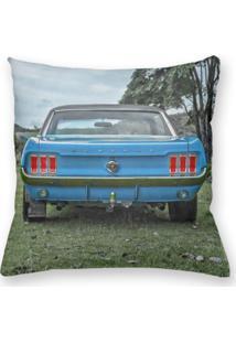 Capa De Almofada Decorativa Own Carro Antigo Mustang Azul 45X45 - Somente Capa