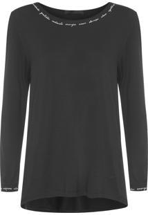 Camiseta Feminina Costanza - Preto