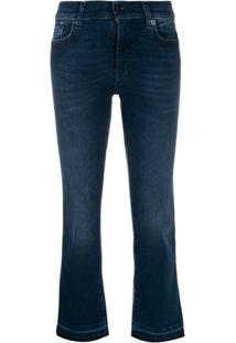 7 For All Mankind Illusion Integrity Cropped Jeans - Azul