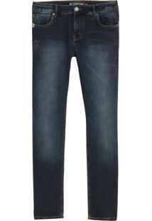 Calça John John Slim Macedonia Jeans Azul Masculina (Jeans Escuro, 44)