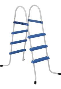 Escada Para Piscina 3 Degraus Azul 1490 Mor