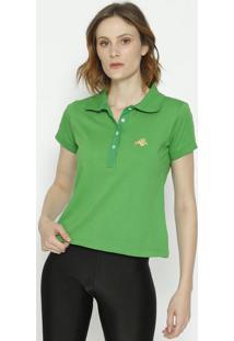 Polo Com Bordado- Verde & Amarelaclub Polo Collection