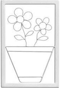 Quadro Decorativo Papoula Branco